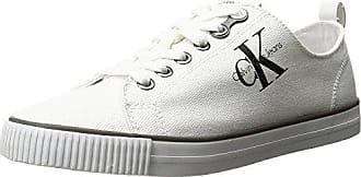 Zolah Canvas Wht, Sneaker Donna, Avorio (White R0673Wht), 41 EU Calvin Klein