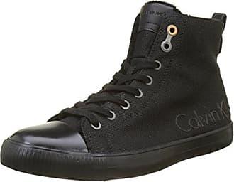 Calvin Klein Arthur Canvas, Zapatillas para Hombre, Negro (Black/Black), 42 EU