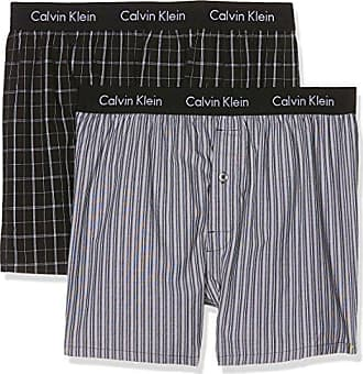 Slim 2pk, Bóxer para Hombre, Azul (Chambray Heather/Estate Blue Gva), Medium(Pack de 2) Calvin Klein