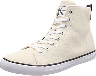 Genna Heavy Canvas, Zapatillas para Mujer, Blanco (Ntw 000), 36 EU Calvin Klein Jeans
