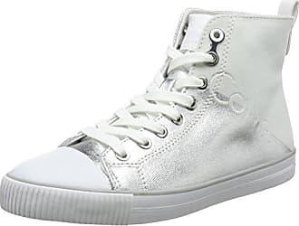 Calvin Klein Jeans Zinah Metal Canvas/Flocking, Zapatillas sin Cordones para Mujer, Plateado (Svw 000), 38 EU