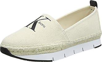 Layla Canvas, Zapatos de Tacón con Punta Abierta para Mujer, Blanco (Ofw 000), 38 EU Calvin Klein Jeans