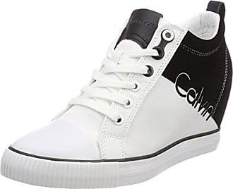 Zinah Nylon/Flocking, Zapatillas sin Cordones para Mujer, Blanco (WBA 000), 41 EU Calvin Klein Jeans