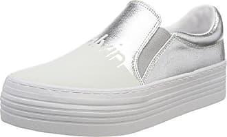 Calvin Klein Jeans Zinah Nylon/Flocking, Zapatillas sin Cordones para Mujer, Blanco (WBA 000), 37 EU