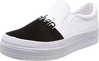 Calvin Klein Jeans Bixi Nylon, Zapatillas Altas para Mujer, Blanco (Wht 000), 37 EU