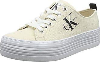 Calvin Klein Jeans Genna Heavy Canvas, Zapatillas para Mujer, Blanco (Ntw 000), 38 EU