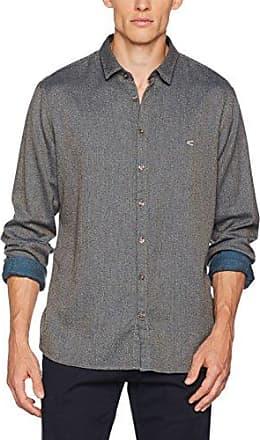 T-Shirt 1/1, Camiseta de Manga Larga para Hombre, Gris (Graphite 38), XXXL Camel Active