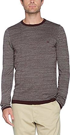 Crew Cable Mouline, Jersey para Hombre, Verde (Dark Olive Cor 76), Large Camel Active