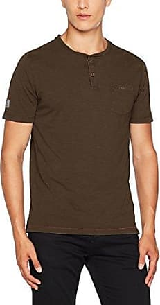 Henley 1/2 GMD, Camiseta para Hombre, Braun (Grey Brown 23), Large Camel Active