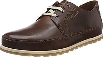 camel active Pier 40 - zapatos con cordones de cuero hombre, color gris, talla 46,5