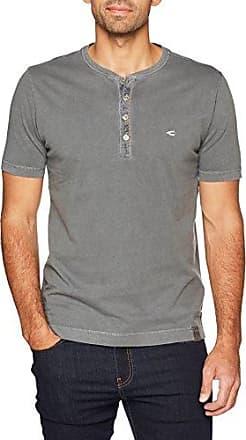 Henley 1/2, Camiseta para Hombre, Verde (Light Olive 73), Large Camel Active
