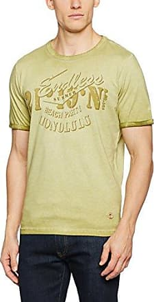 T-Shirt 1/2, Camiseta para Hombre, Amarillo (Lemon), X-Large Camel Active