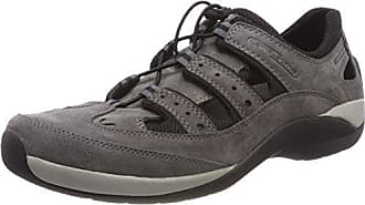 camel active Evolution 21 138.21.03 - Zapatos de cuero nobuck para hombre, Grau (Dk.Grey), 42