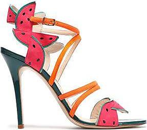Camilla Elphick Woman Pcv-paneled Color-block Leather Sandals Multicolor Size 41 Camilla Elphick