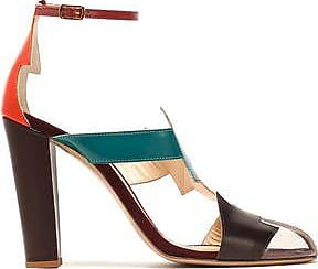 Camilla Elphick Woman Pcv-paneled Color-block Leather Sandals Multicolor Size 38.5 Camilla Elphick