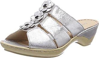 Caprice 27206, Mules para Mujer, Plateado (Silver Metal 920), 36 EU