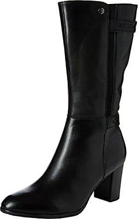 Caprice Damen 26210 Schwarze Nubuk-Leder Boots Größe 42 Schwarz (Black)