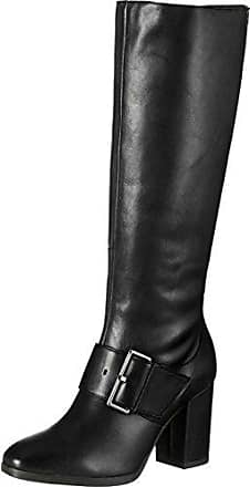 Caprice Nappa High 2 Strap Buckles Femmes Bottes Cognac - 5 UK