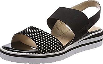 Caprice 28702 Sandali con Cinturino alla Caviglia Donna Nero Black Dots