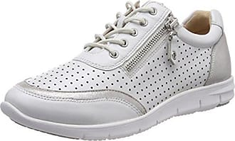 Caprice 23601, Zapatos de Cordones Oxford Para Mujer, Blanco (Wht Perl Multi 190), 40 EU