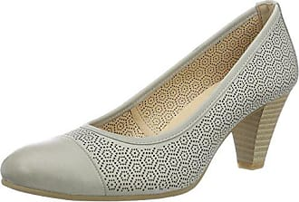 22402, Zapatos de Tacón para Mujer, Gris (Anthracite Rep), 35.5 EU Caprice