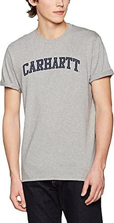 S/S College Script, T-Shirt para Hombre, Gris (Dark Grey Heather/White), L Carhartt Work in Progress