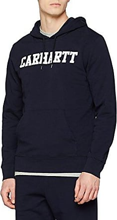Hooded College, Sudadera Deportiva para Hombre, Multicolore (Dark Navy/White 1c), Large Carhartt Work in Progress
