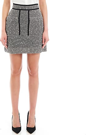 Mini-jupe En Cuir Texturé Verni - NoirCarven