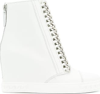chain-trimmed wedge sneakers - Nude & Neutrals Casadei