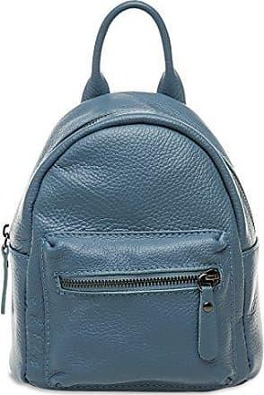 CASPAR TL777 kleiner 2-in-1 Damen echt Leder City Rucksack / kleine Umhängetasche, Farbe:dunkelblau;Größe:One Size CASPAR Fashion