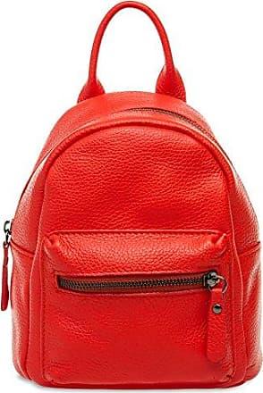 CASPAR TL777 kleiner 2-in-1 Damen echt Leder City Rucksack / kleine Umhängetasche, Farbe:jeans blau;Größe:One Size CASPAR Fashion