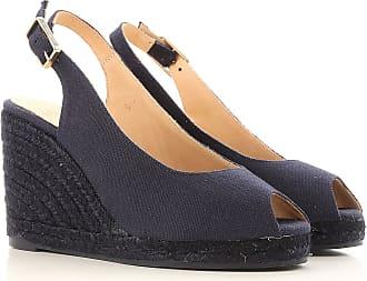 Cuñas para Mujer, Zapatos de Cuña Baratos en Rebajas Outlet, Rojo, Tela, 2017, 36 37 38 40 Castaner