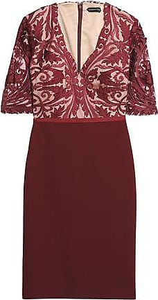 Catherine Deane Woman Guipure Lace And Jersey Dress Merlot Size 6 Catherine Deane