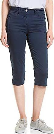 Cecil 371422, Pantalones Cortos para Mujer, Azul (Deep Blue 10128), 31