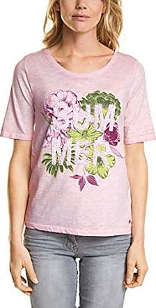 312344, T-Shirt Femme, Vert (Sulphur Green 31336), XXLCecil