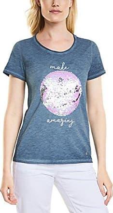 312128, T-Shirt Femme, Bleu (Deep Blue 30128), XLCecil