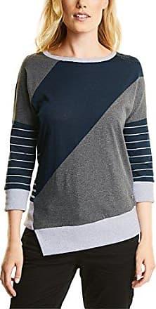 311875, T-Shirt Manches Longues Femme, Multicolore (Deep Blue 30128), LCecil