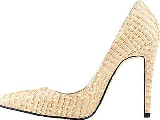 CFP , Damen Durchgängies Plateau Sandalen mit Keilabsatz , beige - nude - Größe: 37