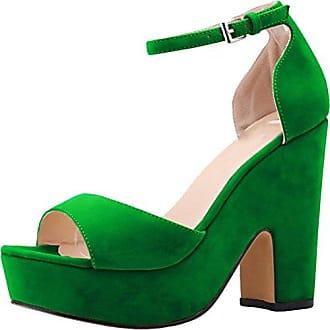 CFP , Damen Knöchel-Riemchen , grün - grün - Größe: 35.5