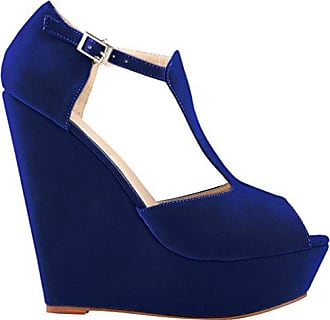 CFP , Damen Peep Toes , blau - blau - Größe: 39