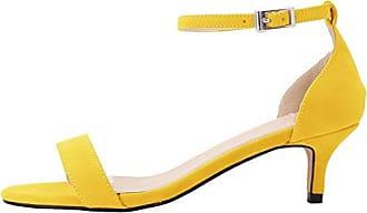 CFP , Damen Peep Toes , gelb - gelb - Größe: 38