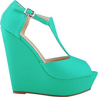 CFP , Damen Peep Toes , grün - grün - Größe: 36.5