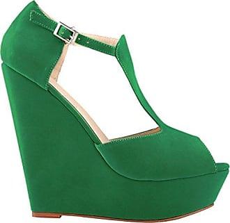 CFP , Damen Peep Toes , grün - grün - Größe: 35