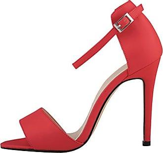 CFP , Damen Peep Toes , rot - rot - Größe: 41