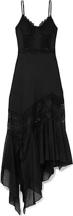 Briana Crocheted Lace And Cotton-blend Voile Maxi Dress - Black Charo Ruiz Ibiza