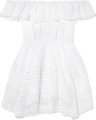 Joya Crocheted Lace Cotton-blend Mini Dress - White Charo Ruiz Ibiza