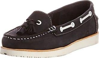 Chatham Marine Sally - Zapatos Sin Cordones de Cuero Mujer, Color Negro, Talla 39 1/3