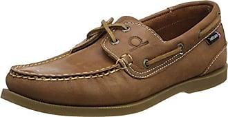 D106 - Náuticos de cuero para hombre, color marrón, talla 50.5 Chatham Marine