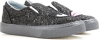 Slip on Sneakers for Women On Sale in Outlet, Black, paillettes, 2017, 2.5 3.5 Chiara Ferragni