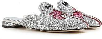 Sandals for Women On Sale, Silver, Glittered Leather, 2017, 2.5 3.5 4.5 5.5 7.5 Chiara Ferragni